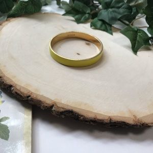 J.Crew Yellow and Gold Enamel Bangle Bracelet